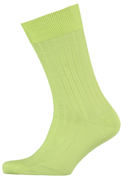 Cad & The Dandy Cotton Ribbed Lime Socks