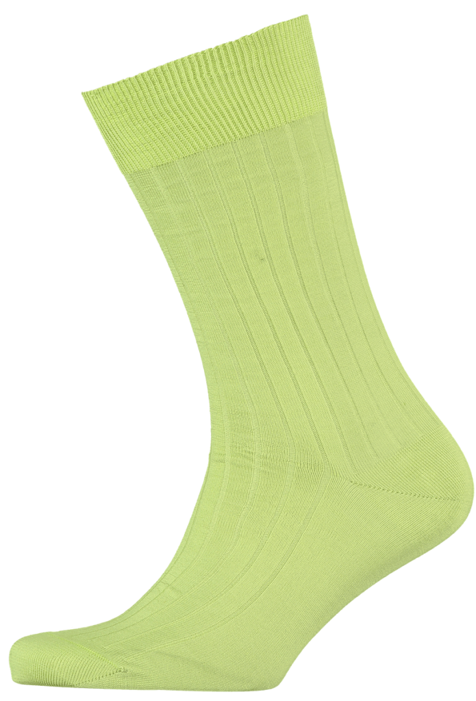 menswear-socks-cotton-ribbed-lime-1
