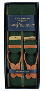 Cad & The Dandy Albert Thurston Green & Tan Braces