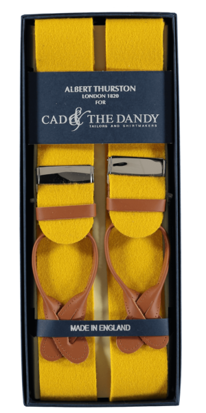 Cad & The Dandy Albert Thurston Yellow & Tan Braces