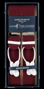 Cad & The Dandy Albert Thurston Claret Braces