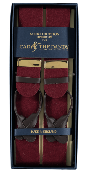 Cad & The Dandy Albert Thurston Claret Braces