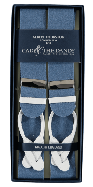 Cad & The Dandy Albert Thurston Saxe Blue & Yellow Braces