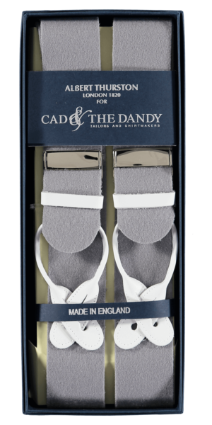 Cad & The Dandy Albert Thurston Grey & White Braces