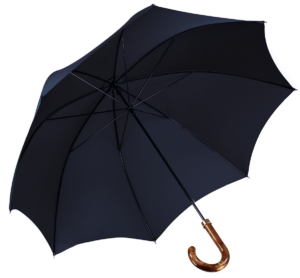 Cad & The Dandy Walking Umbrella in Navy Blue