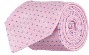 Cad & The Dandy Pink and Blue Silk Spotted Tie