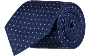 Cad & The Dandy Silk Blue Spotted Tie