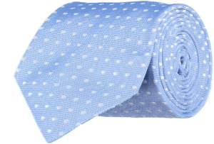Cad & The Dandy Silk Blue and White Spotted Tie