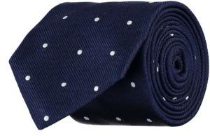 Cad & The Dandy Silk Repp Spotted Tie