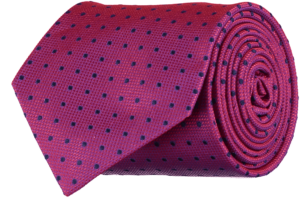 Cad & The Dandy Silk Spotted Red and Blue Tie