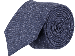 Cad & The Dandy Silk Textured Tie in Indigo