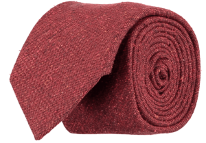 Cad & The Dandy Silk Textured Tie in Red