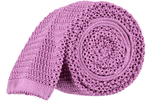 Cad & The Dandy Unlined Knitted Tie in Mauve