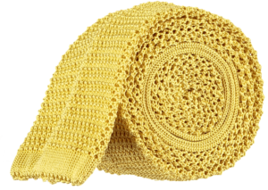 Cad & The Dandy Unlined Knitted Tie in Bright Yellow
