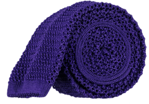 Cad & The Dandy Unlined Knitted Tie in Bright Violet
