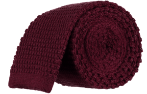 Cad & The Dandy Knitted Tie in Claret