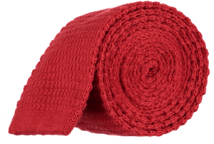 Cad & The Dandy Knitted Tie in Bright Red