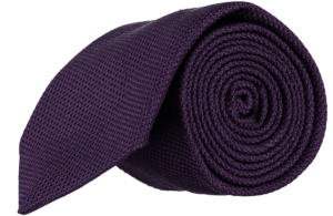 Cad & The Dandy Micro Grendine Tie in Dark Violet