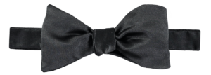 Cad & The Dandy Self Tie Black Satin Bow Tie