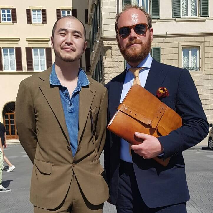james from cad and the dandy at pitti uomo june 2016