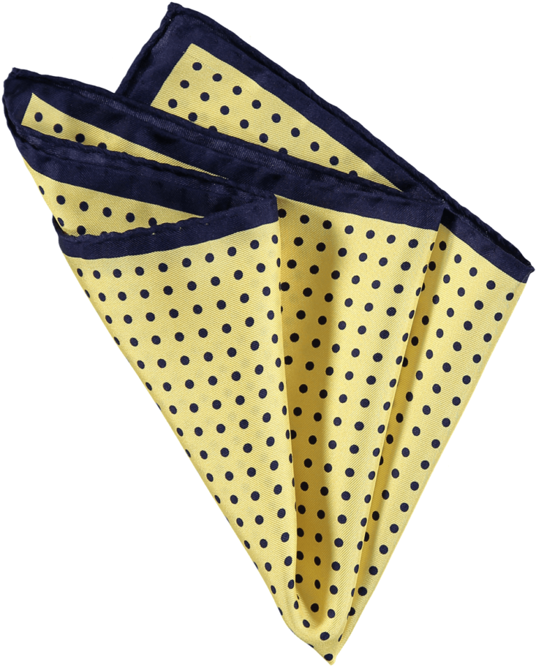 menswear-accessories-silk-pocket-square-lemon-navy-spots-1