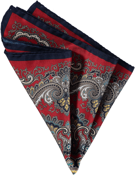 Cad & The Dandy Paisley Silk Pocket Square