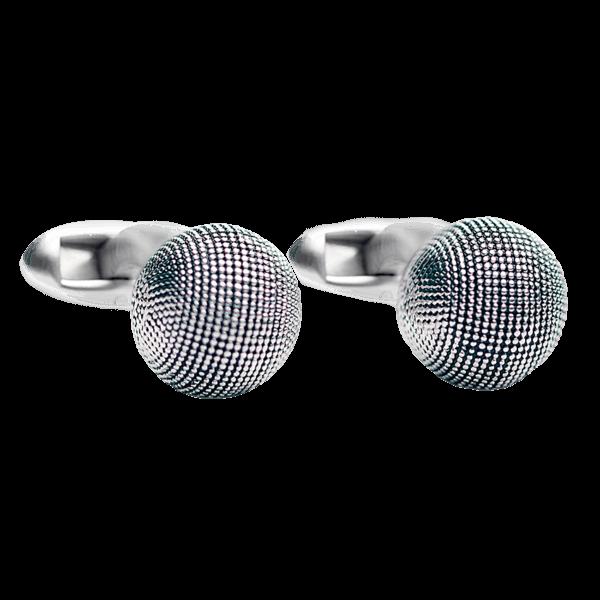 cufflink-silver-textured-ball-front
