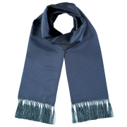 silk-dress-scarf-teal-white-spots