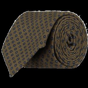 Italian-Wool-Spot-Tie-0090-Rolled