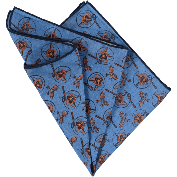 silk-pocket-square-foxes-blue-folded