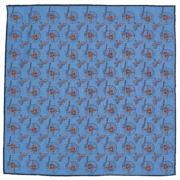 silk-pocket-square-foxes-blue-flat