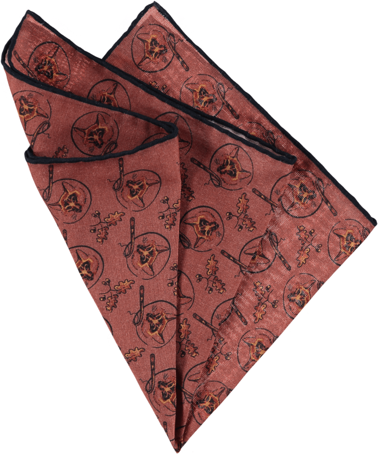 silk-pocket-square-foxes-pink-folded