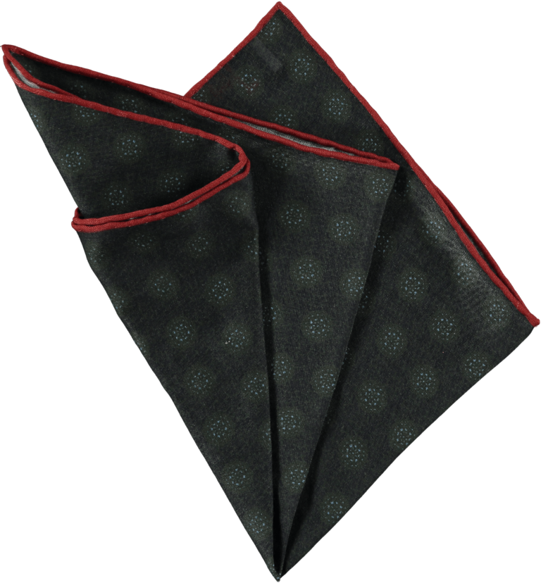 patterned-pocket-square-green-folded