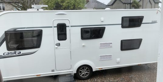 2017 Compass (by elddis) Casita 586 AS NEW, motor mover, awning, large bathroom, fixed bunks, all accessories