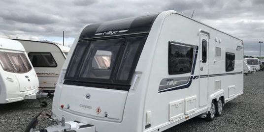 ** ON THE SPOT DEAL! Save £2000 TODAY ** – 2014 Compass Rallye 634 SR Twin Axle – Fixed Bed / End Washroom. One Owner!