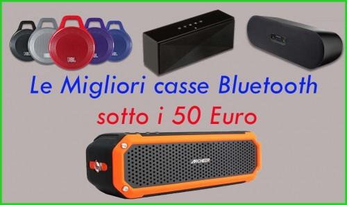Migliori Casse Bluetooth sotto 50 Euro