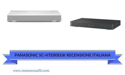 Panasonic SC-HTE80EGK Recensione Italiana Soundbar Panasonic