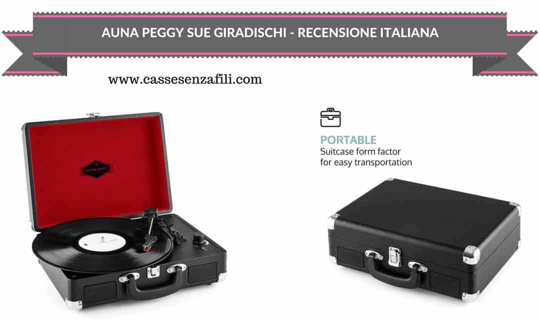 Auna Peggy Sue - Recensione Italiana Giradischi Portatile Auna