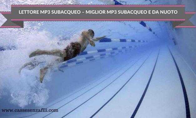 Mp3 subacqueo – Miglior lettore mp3 subacqueo da Piscina