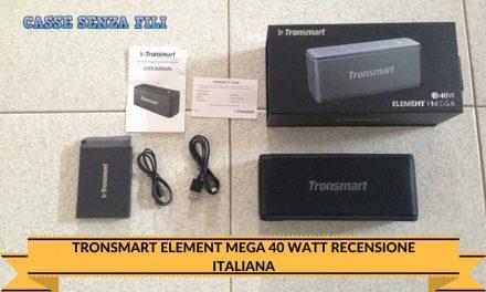 Tronsmart Element Mega 40 Watt Recensione Italiana – Cassesenzafili.com
