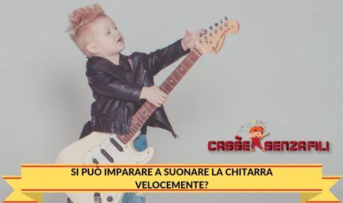 Si può imparare a suonare la chitarra velocemente