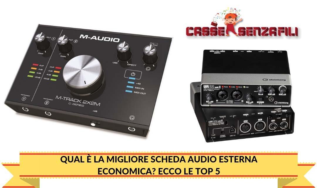 Qual è la migliore scheda audio esterna economica  Ecco Le Top 5 ... 59c9f1b8df03