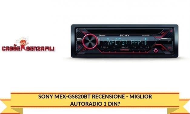 Sony MEX-GS820BT Recensione – Miglior Autoradio 1 Din?