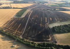 'Quick thinking' ploughing halts crop fires across England