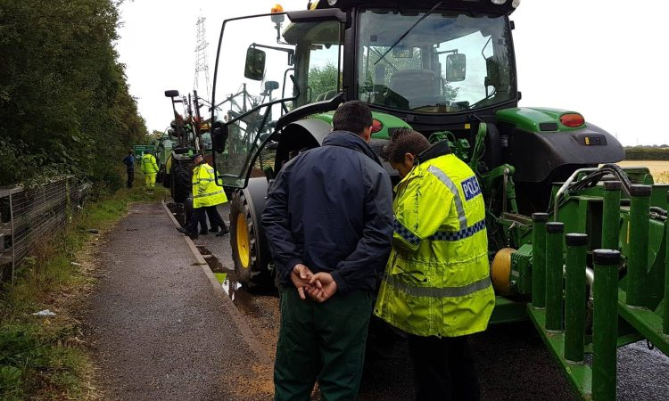 17 out of 19 farm vehicles checked by police found with defects