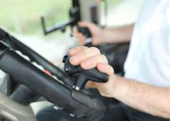 Clever steering knob that 'transforms' tractor/loader work
