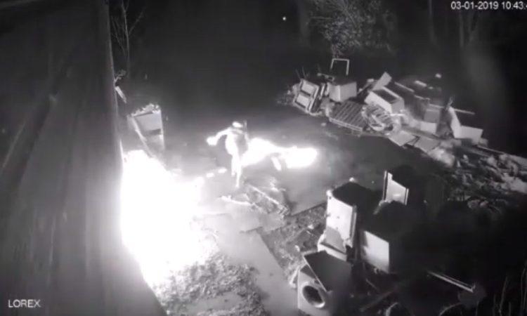 Arson attack on former farm 'backfires' badly