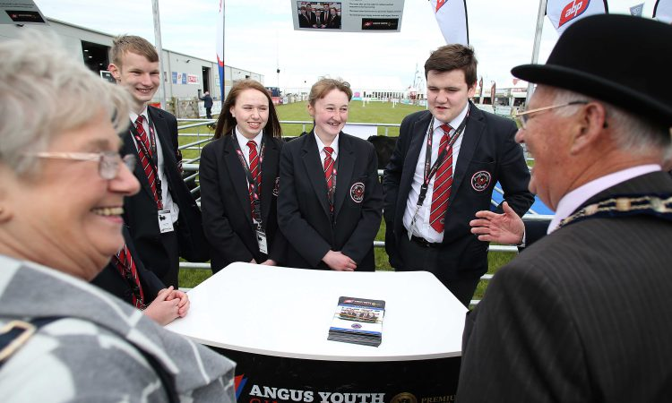 20 Angus-cross calves presented to NI teenagers