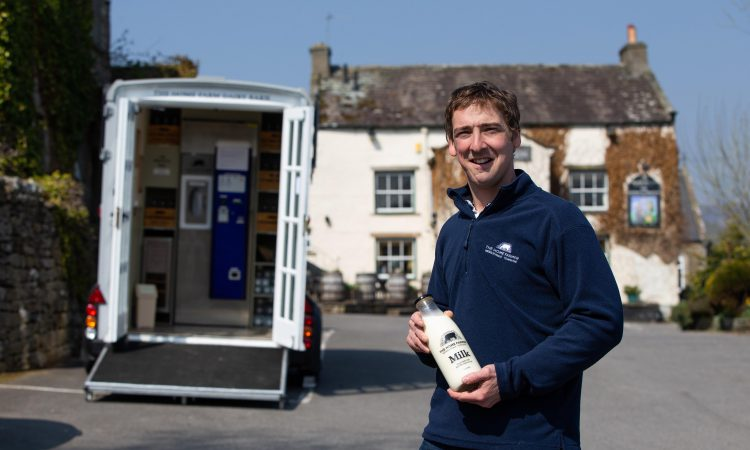 Innovative young farmer transforms horsebox into UK's first mobile milk vending machine