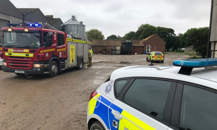 Firefighters rescue injured farm worker trapped in 3m trench